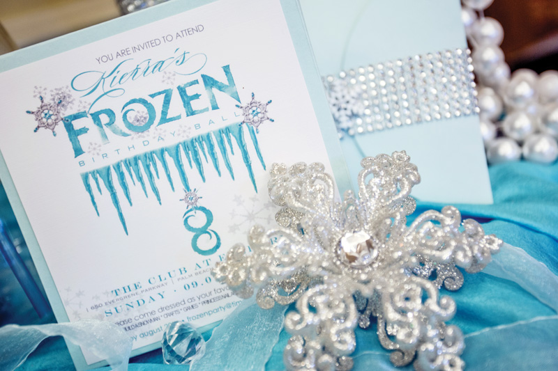 frozen party invitation palm beach illustrated