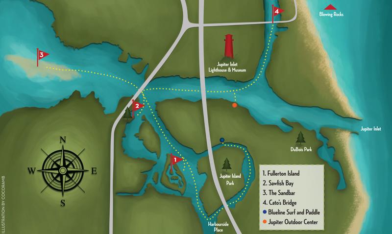 Map Of Jupiter Florida.Jupiter Inlet District Paddle Fun Palm Beach Illustrated