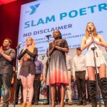 "Members of the Boca Raton Community High School Chorus and Slam Poetry Team, ""Non Disclaimers"""
