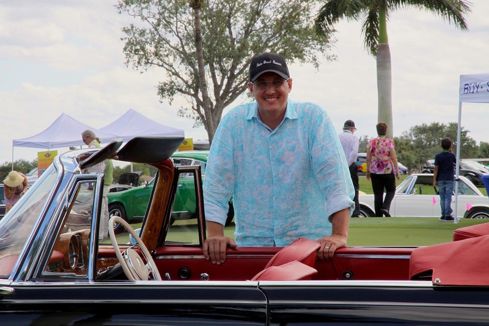 Sidney Vallon of Palm Beach Classics brought along seven of his magnificent Mercs