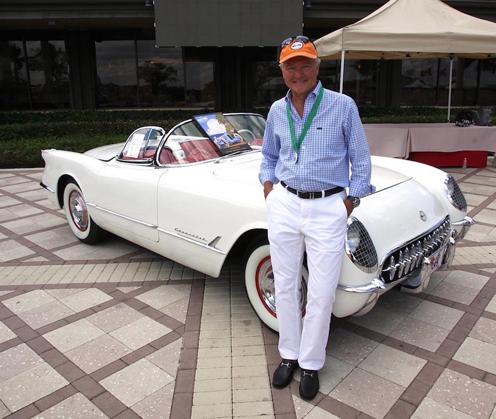 Bob Oatman and his 1954 Chevy Corvette