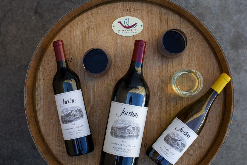 Jordan 2015 Cabernet Sauvignon, 2013 Magnum, and 2015 Chardonnay.