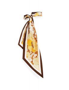 Toffee poppy printed long scarf ($210), Zimmermann, Palm Beach