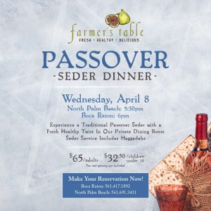 Celebrate Passover at Farmer's Table North Palm Beach
